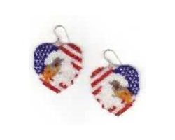 National Heart Earrings